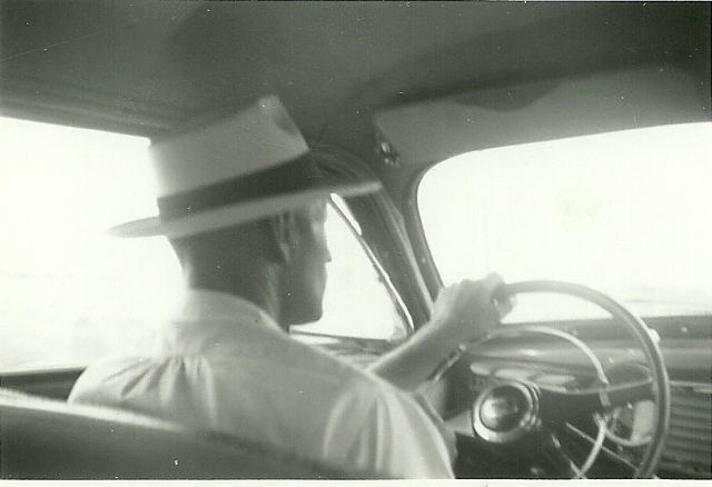 Much of the time on the road was spent marketing. William Osborn at the wheel
