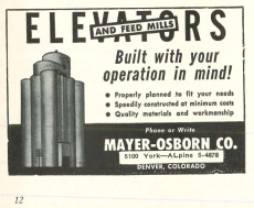 This ad for Mayer-Osborn Company ran in Farmers' Elevator Guide over a period of several years in the early 1950s.