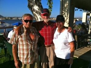 From left, Tim and Chuck Tillotson and La Rose Tillotson Hunt in 2012.