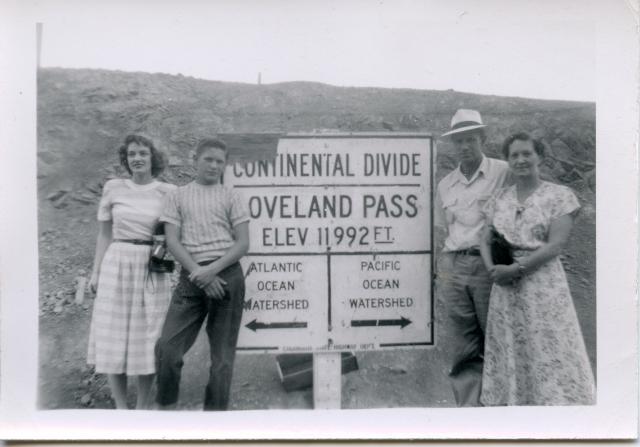 Audrey, Gerald, William and Alice Osborn, ca. 1950