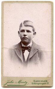 Albert Skoog as a boy