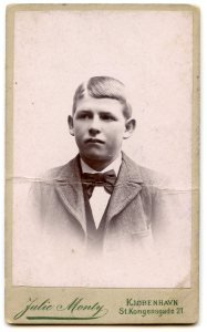 Albert Skoog as a boy