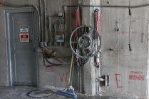 Wheels will turn and brooms will sweep inside the 1950 Tillotson Elevator owned by Ag Producers Co-op, Bushland, Tex.