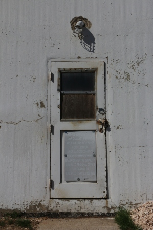 The door to the past was closed in Follett, Texas.