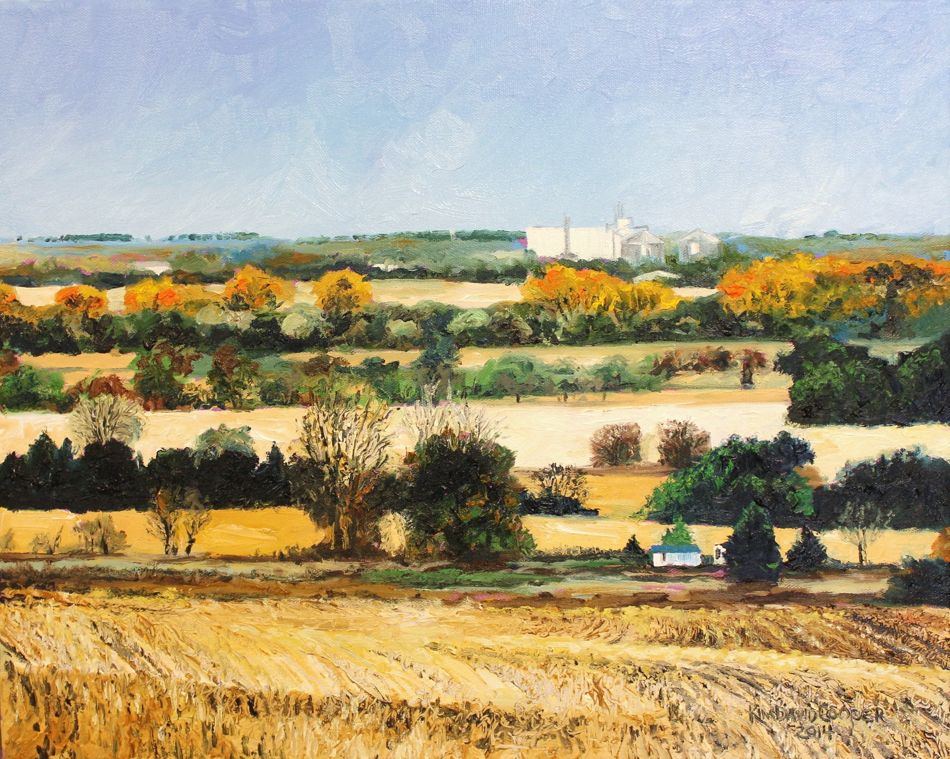October Nebraska 16x20, oil on canvas Sold to Don and Lois Fick, Wahoo, NE